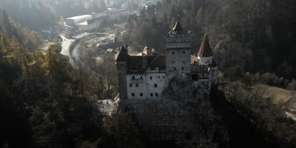 Aerial Dracula tour from Brasov over Dracula's Castle-airplane, Dracula tours