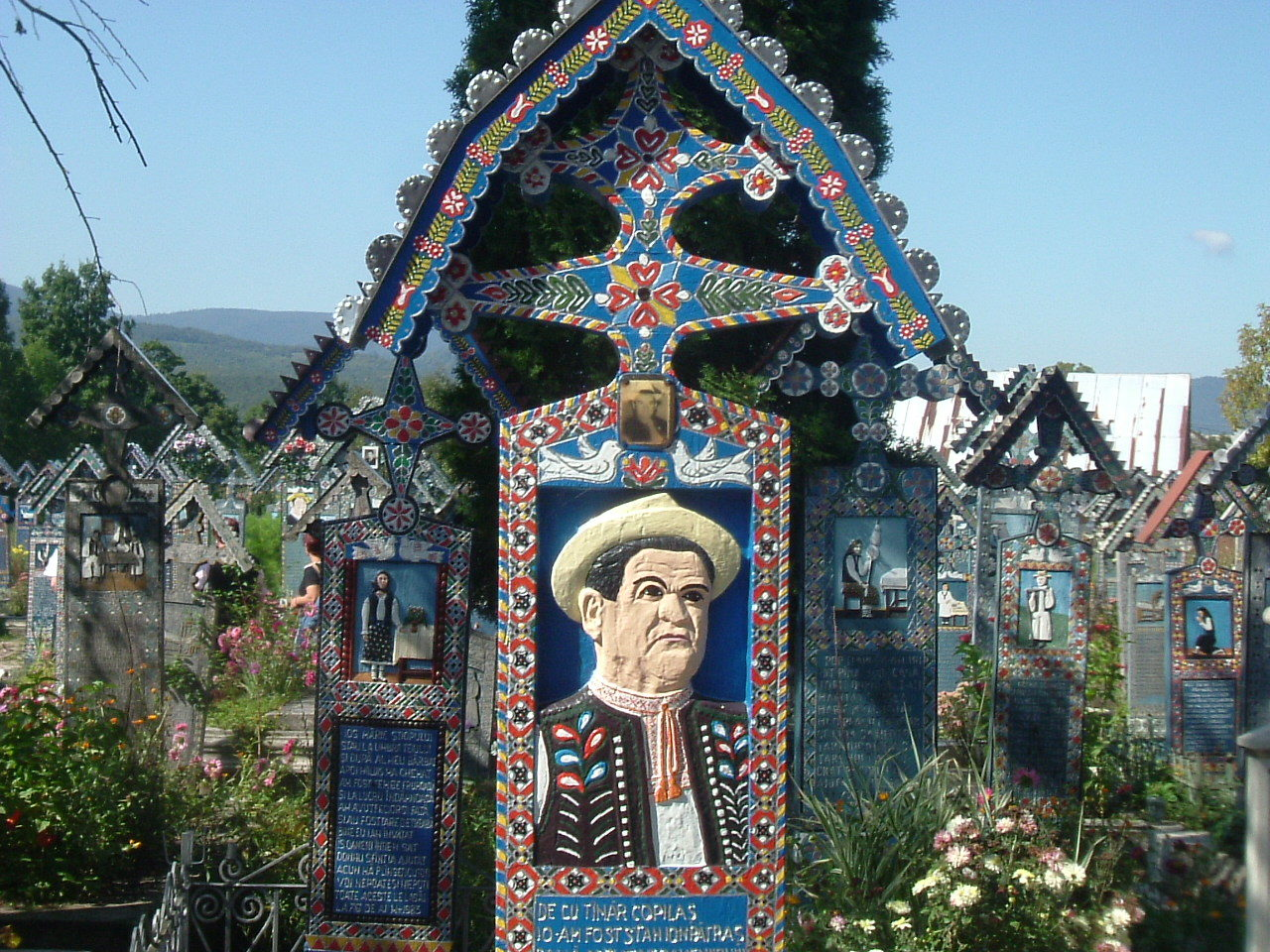 Merry Cemetery seen in Dracula tours from Budapest or Bucharest