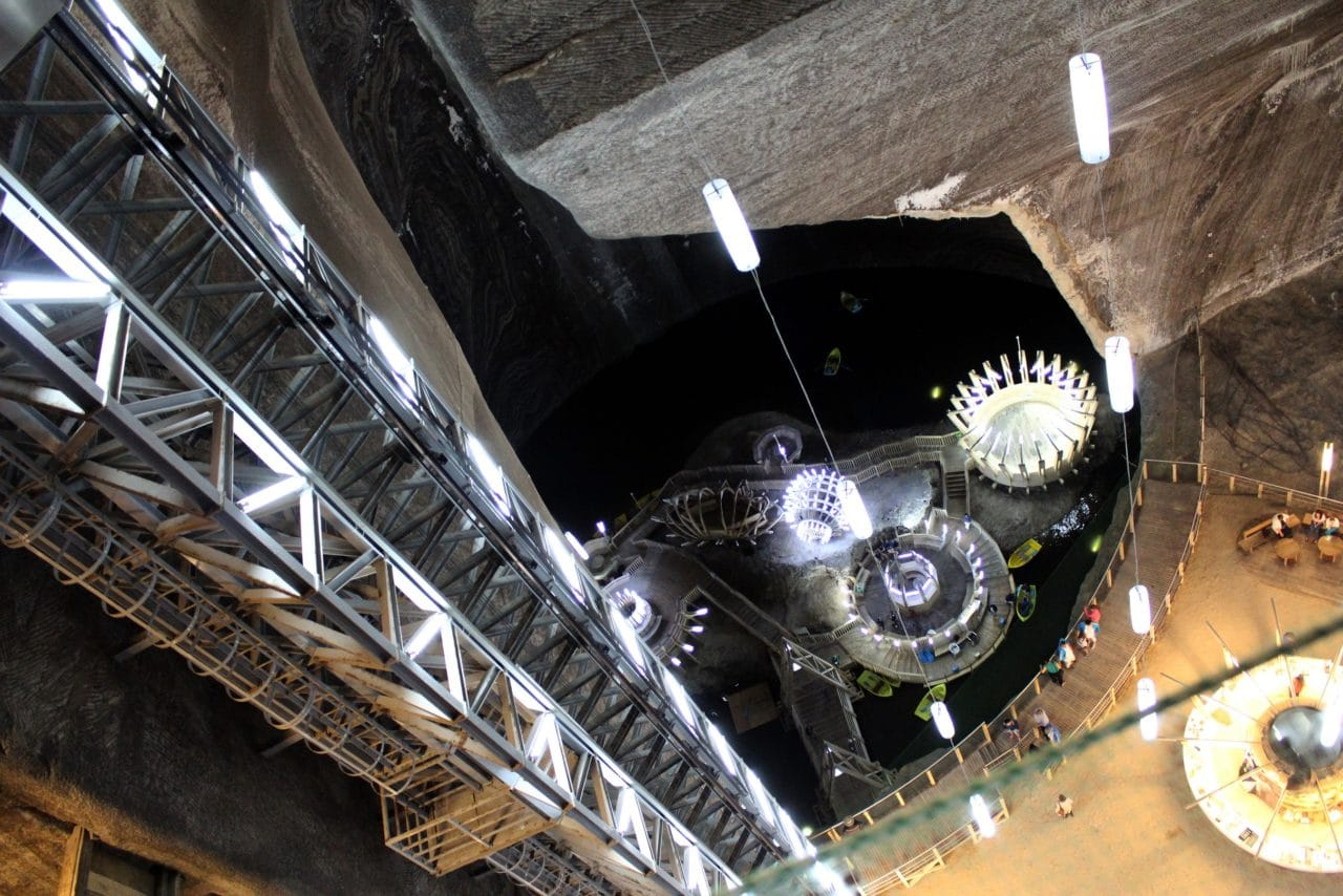 Turda spectacular Salt Mine-seen in our Transylvania Dracula tours