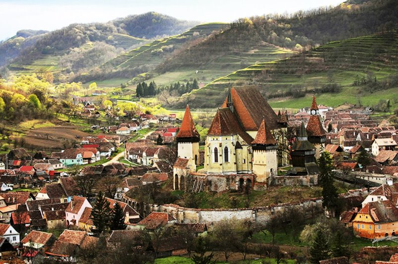 Biertan fortified church seen in private Transylvania Dracula tours