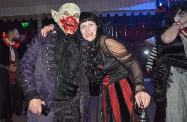 British tourists at the best Bran Castle Halloween party 2020 in Transylvania