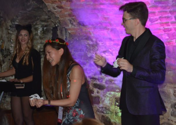 Magicians Show at the best Halloween party in Transylvania, Sighisoara Citadel, Romania short breaks -Halloween in Transylvania with 2 parties, Transylvania private tours