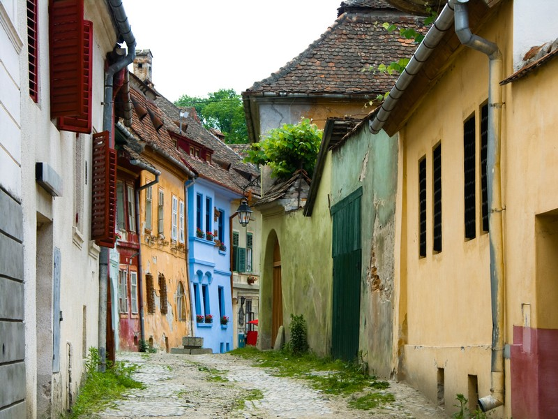 Streets of Sighisoara citadel